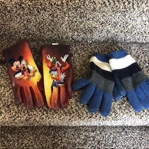 Disney and old navy gloves